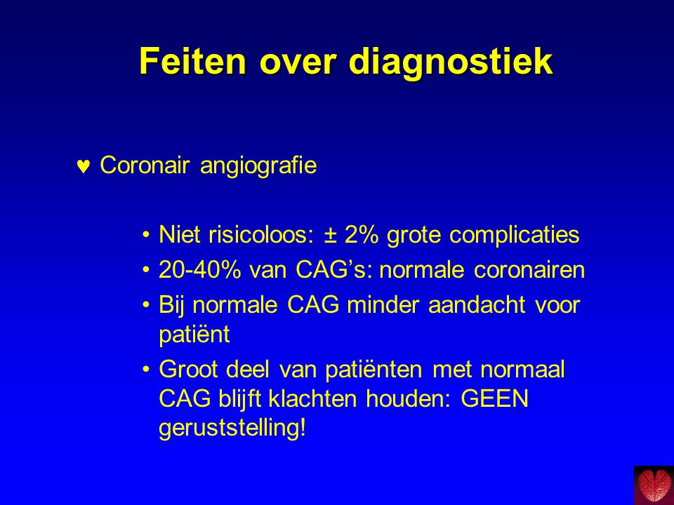 Feiten over diagnostiek