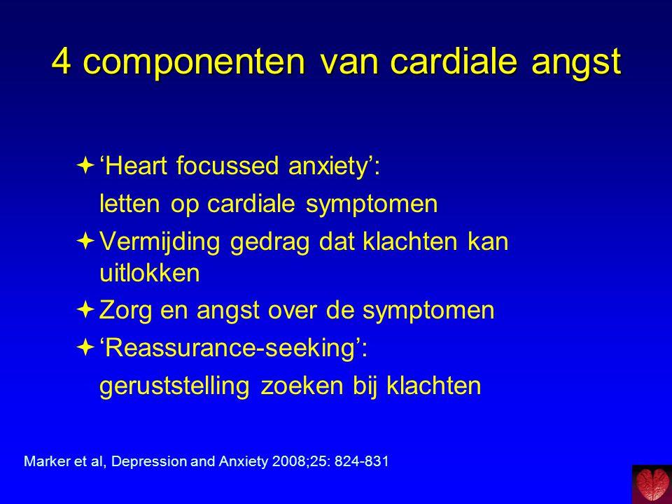 4 componenten van cardiale angst