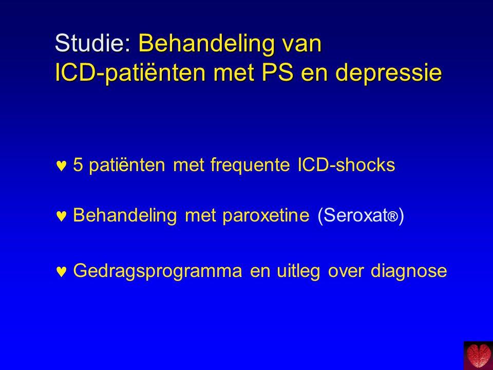 Studie: Behandeling van ICD-patiënten met PS en depressie