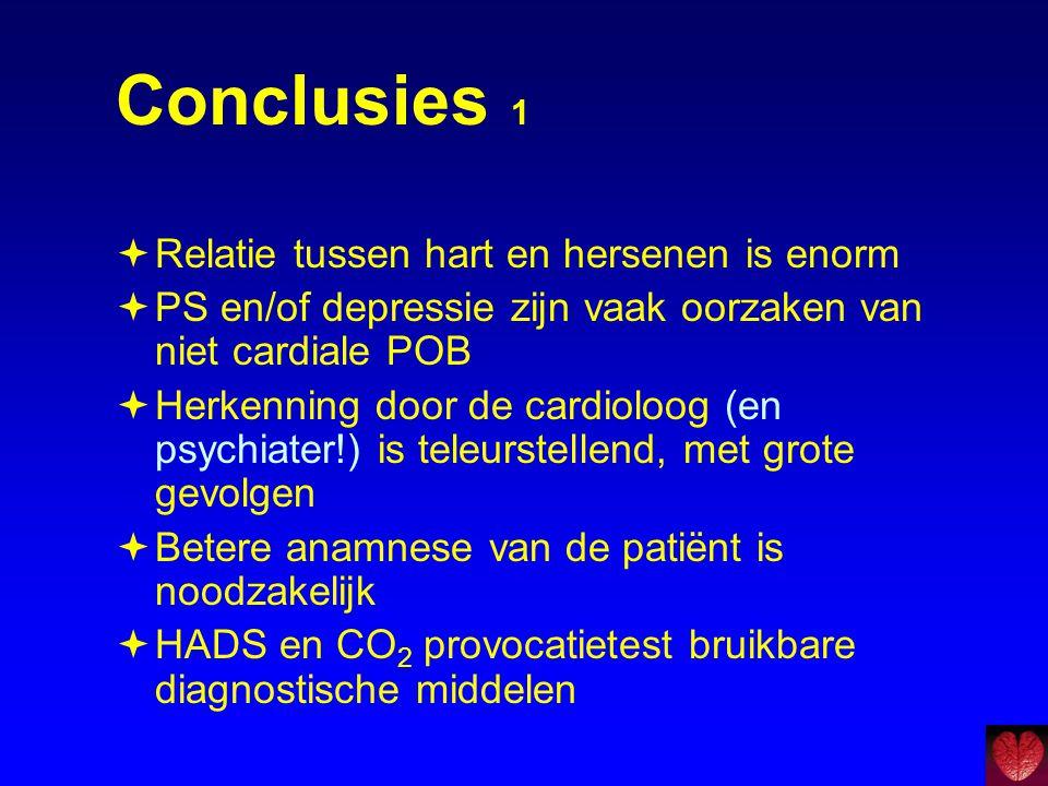 Conclusies 1 Relatie tussen hart en hersenen is enorm