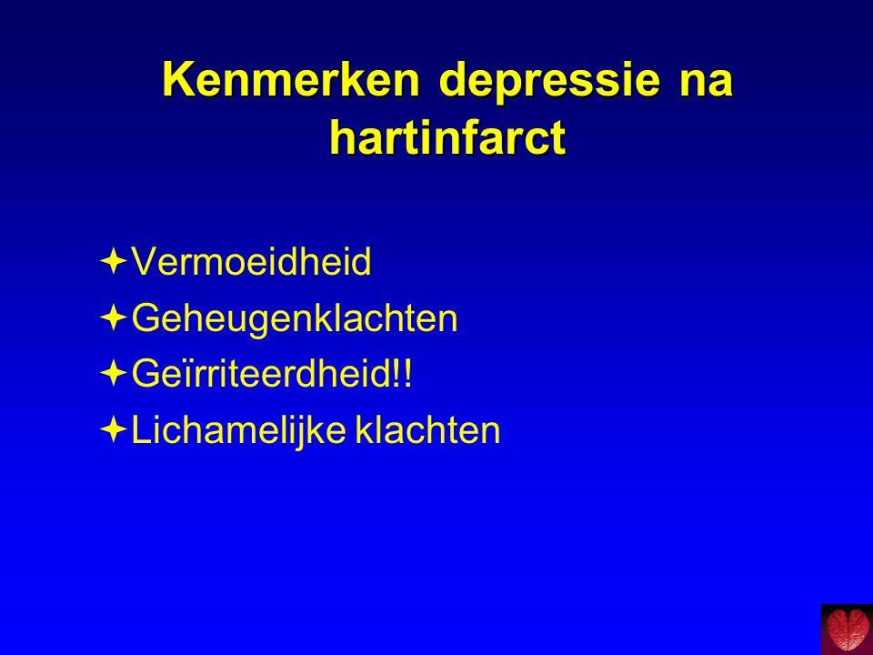 Kenmerken depressie na hartinfarct