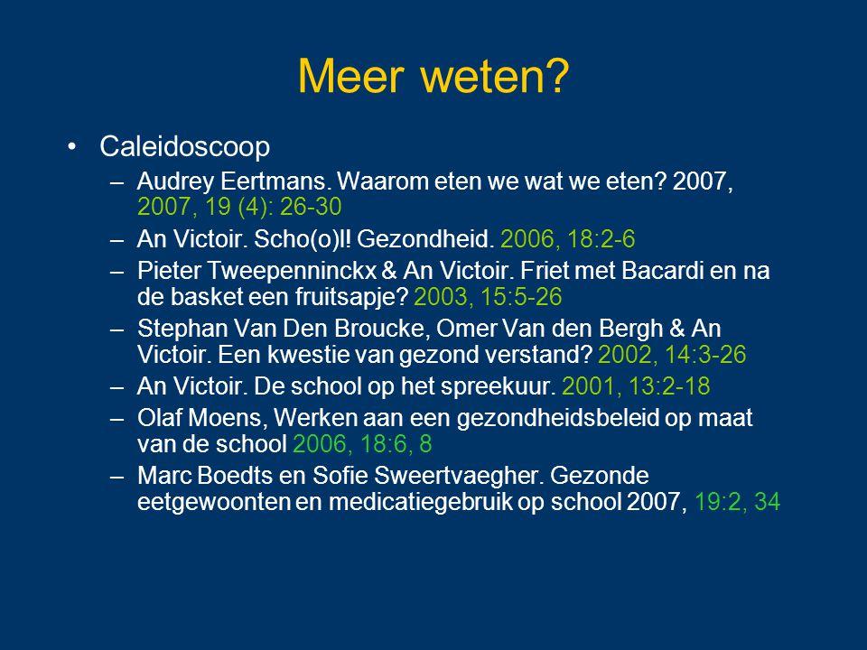 Meer weten Caleidoscoop