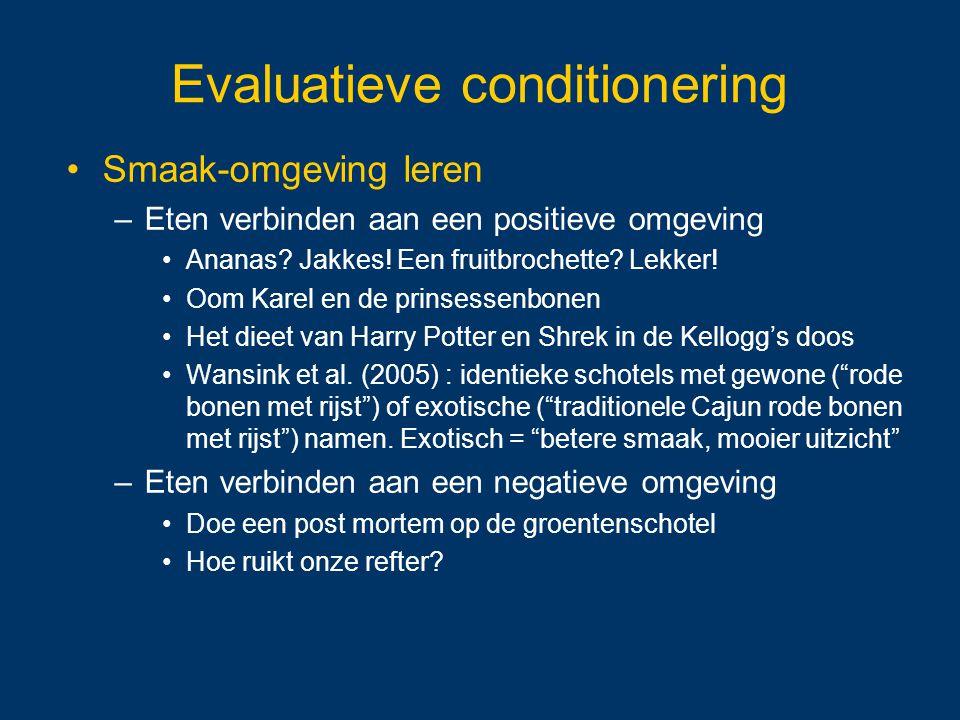 Evaluatieve conditionering