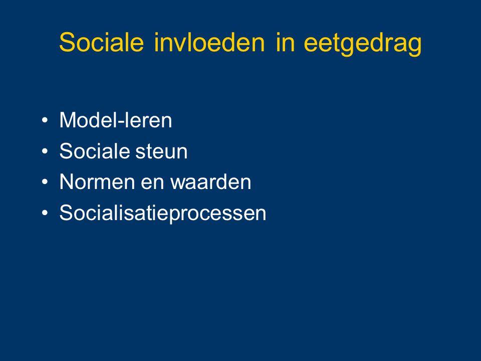 Sociale invloeden in eetgedrag