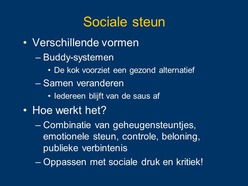 Sociale steun Verschillende vormen Hoe werkt het Buddy-systemen