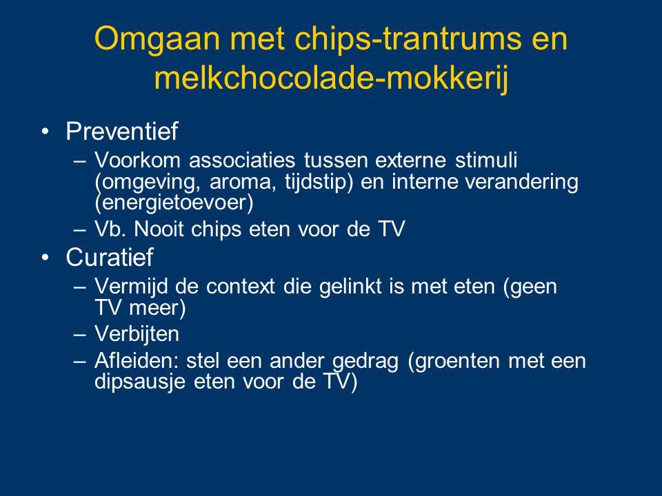 Omgaan met chips-trantrums en melkchocolade-mokkerij