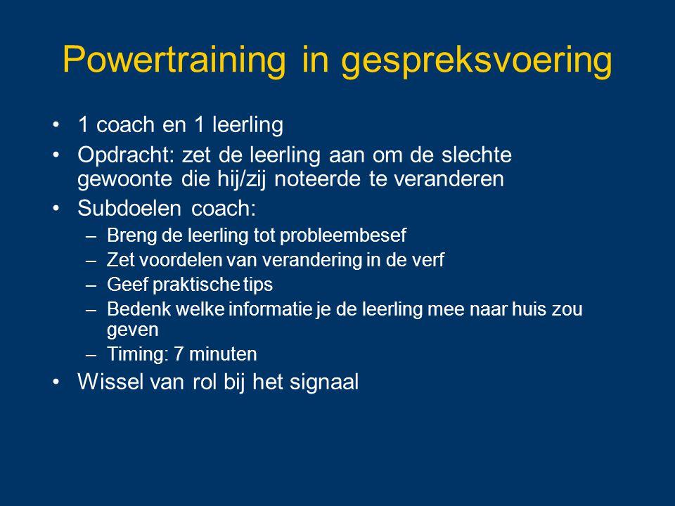 Powertraining in gespreksvoering
