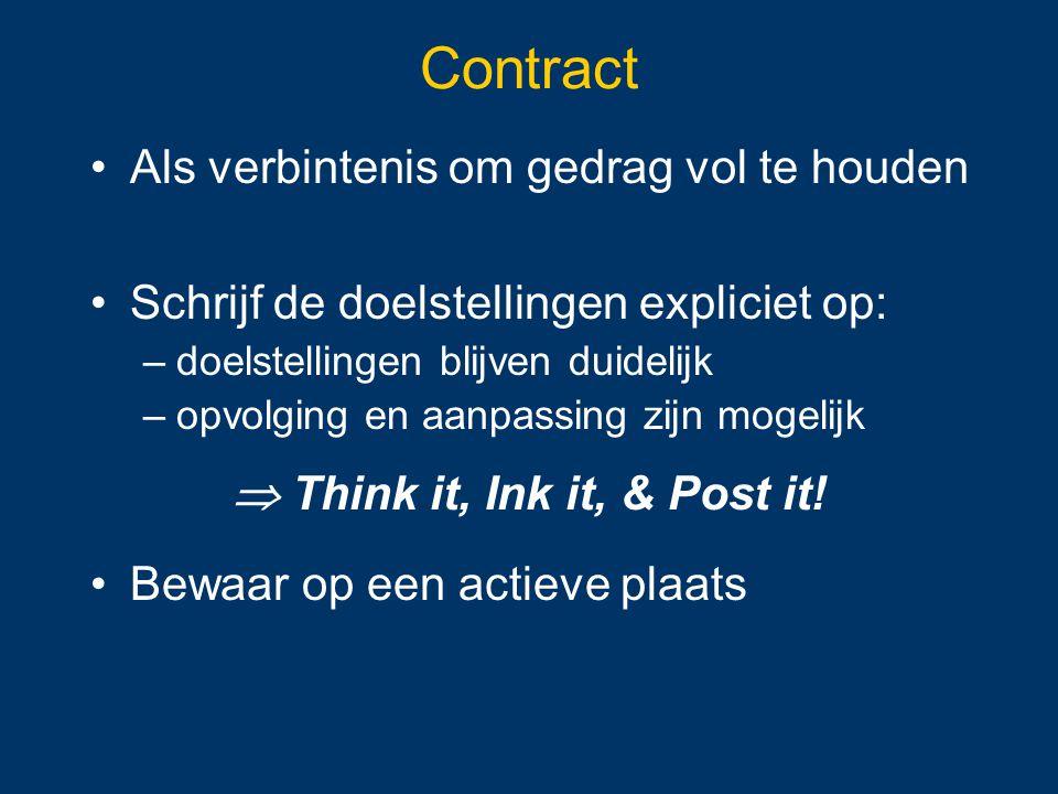  Think it, Ink it, & Post it!