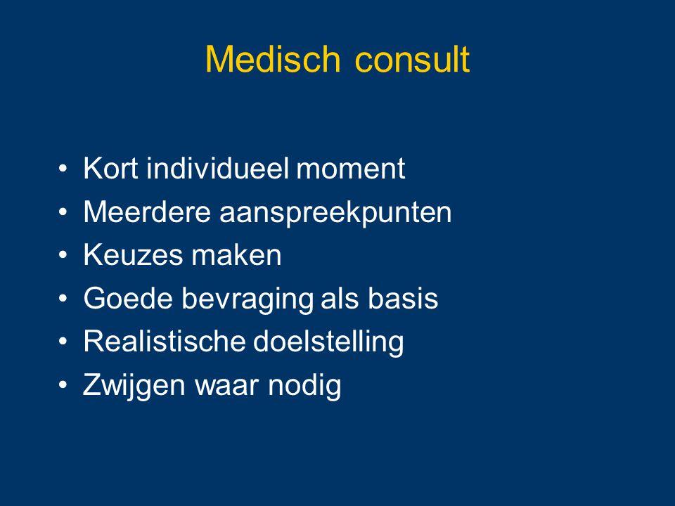 Medisch consult Kort individueel moment Meerdere aanspreekpunten