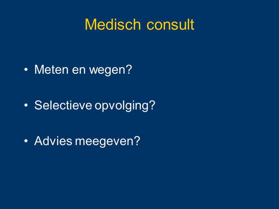 Medisch consult Meten en wegen Selectieve opvolging Advies meegeven