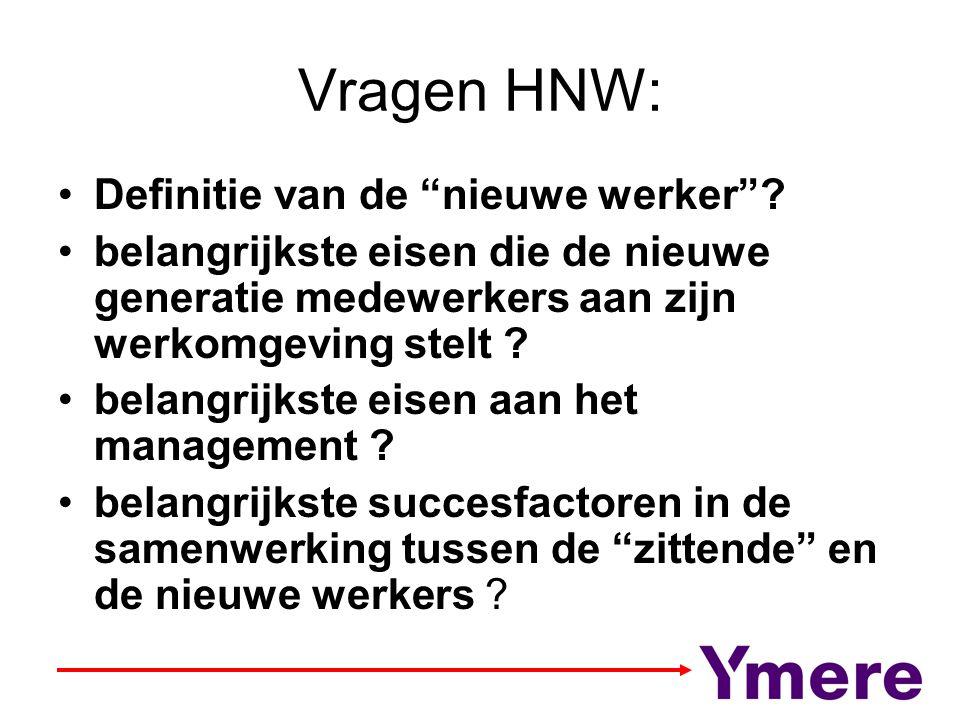 Vragen HNW: Definitie van de nieuwe werker