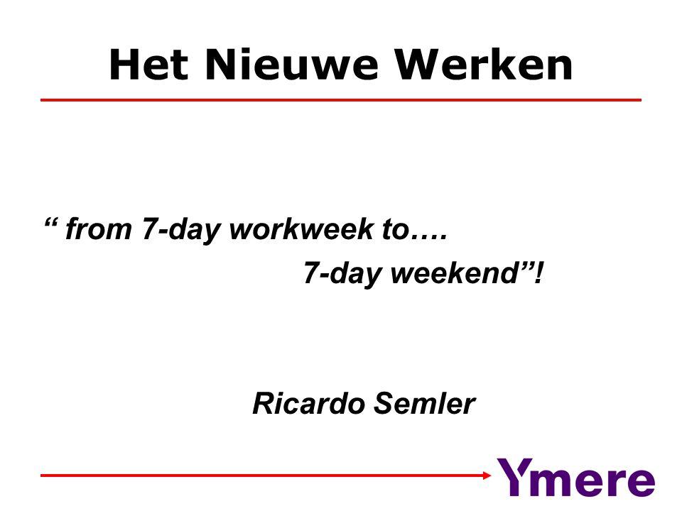 Het Nieuwe Werken from 7-day workweek to…. 7-day weekend !