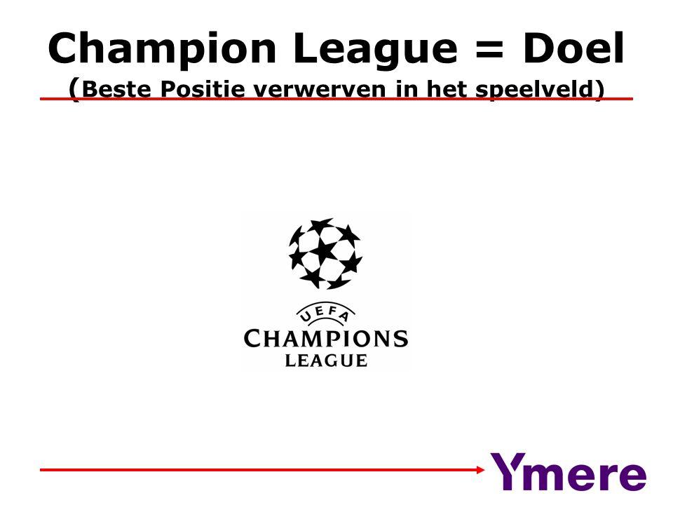 Champion League = Doel (Beste Positie verwerven in het speelveld)