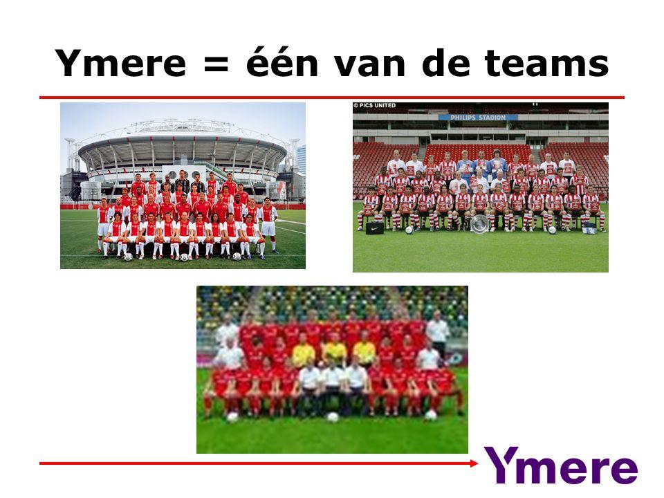 Ymere = één van de teams