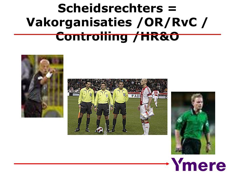 Scheidsrechters = Vakorganisaties /OR/RvC / Controlling /HR&O