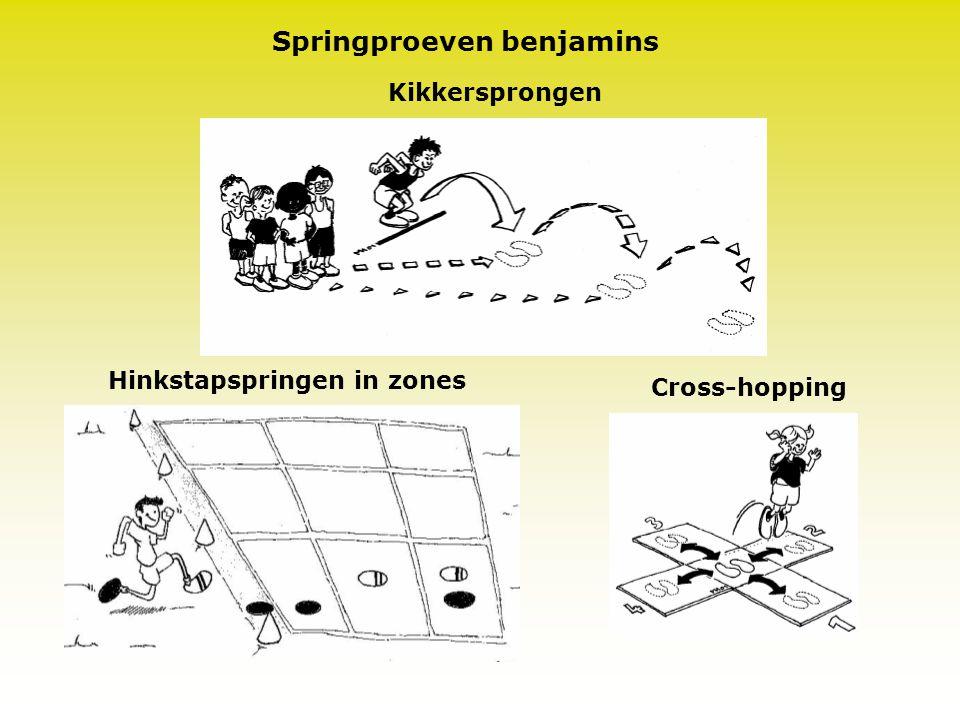 Springproeven benjamins Hinkstapspringen in zones