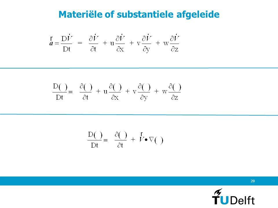 Materiële of substantiele afgeleide