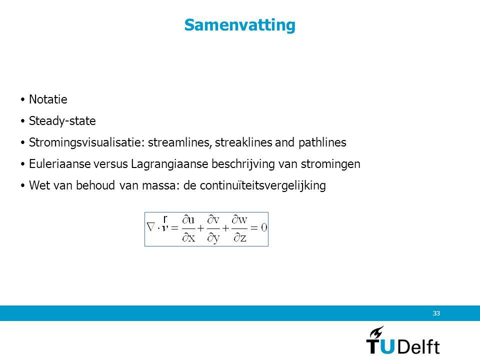 Samenvatting  Notatie  Steady-state