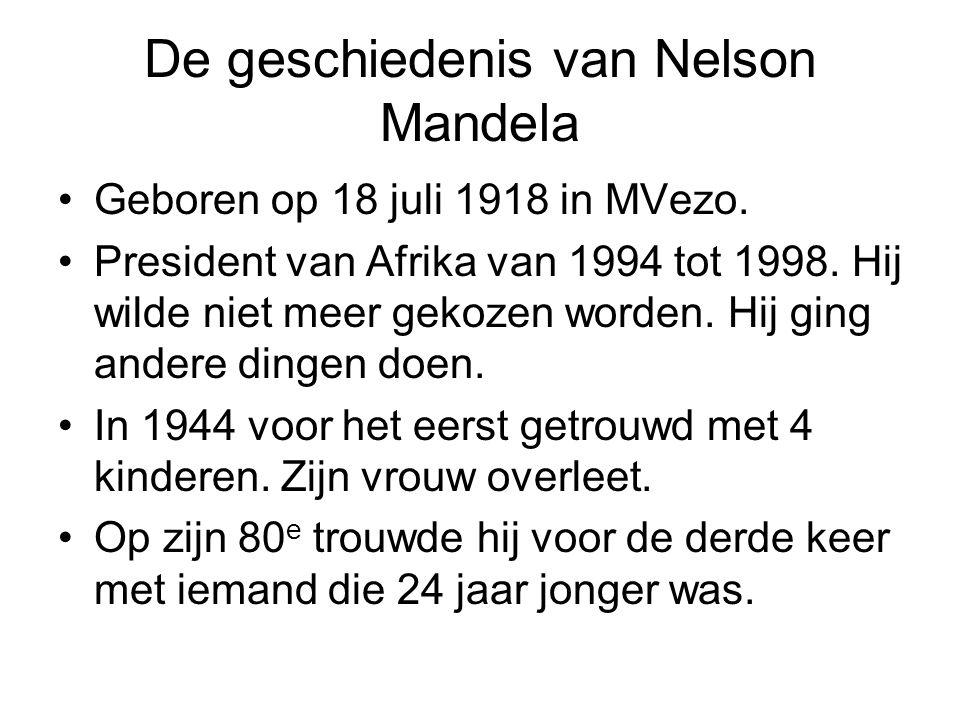 De geschiedenis van Nelson Mandela