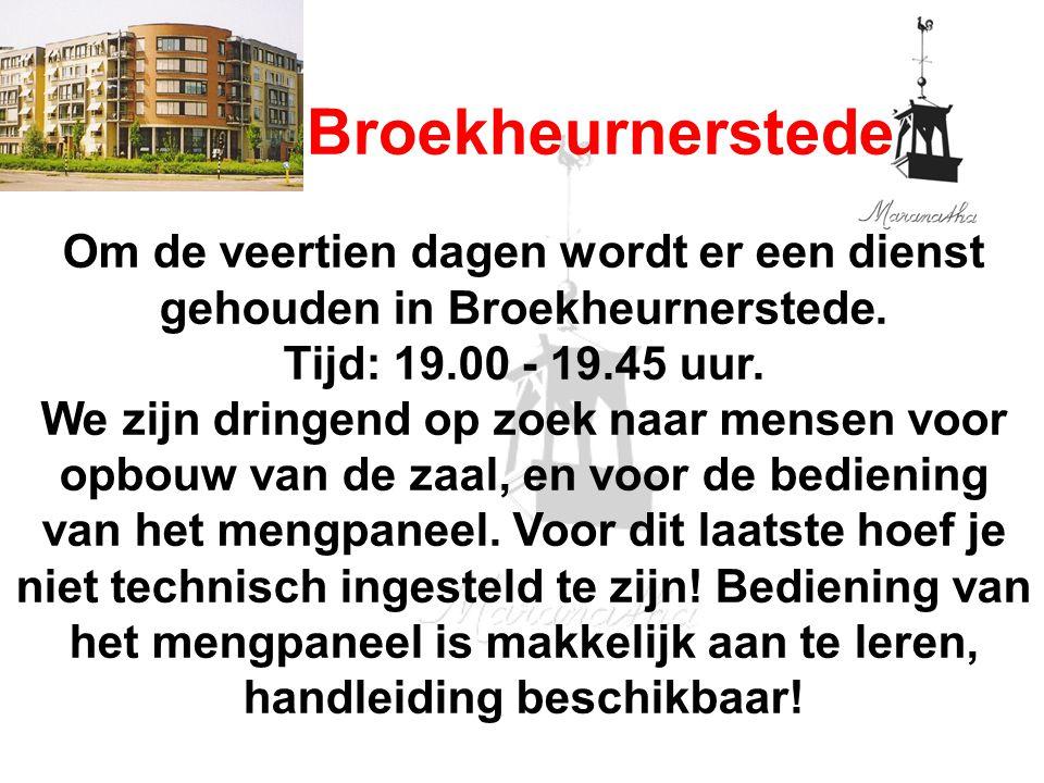 18-05-13 05/18/13. Broekheurnerstede. Om de veertien dagen wordt er een dienst gehouden in Broekheurnerstede.