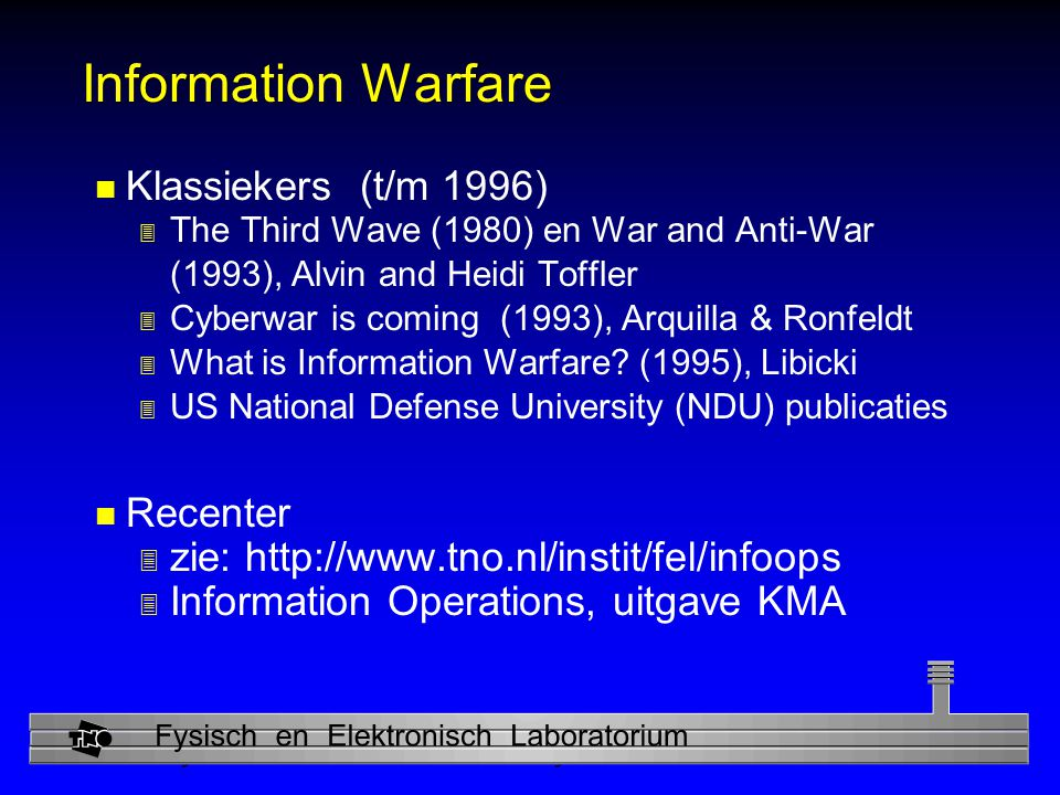Information Warfare Klassiekers (t/m 1996) Recenter