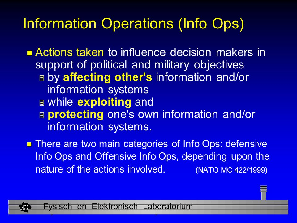 Information Operations (Info Ops)