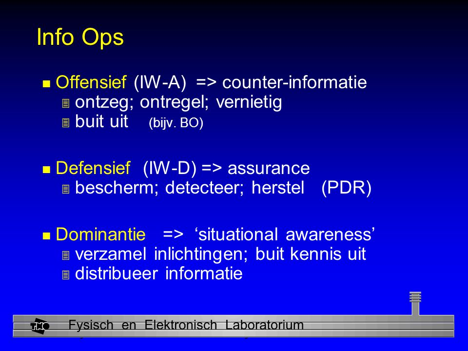 Info Ops Offensief (IW-A) => counter-informatie