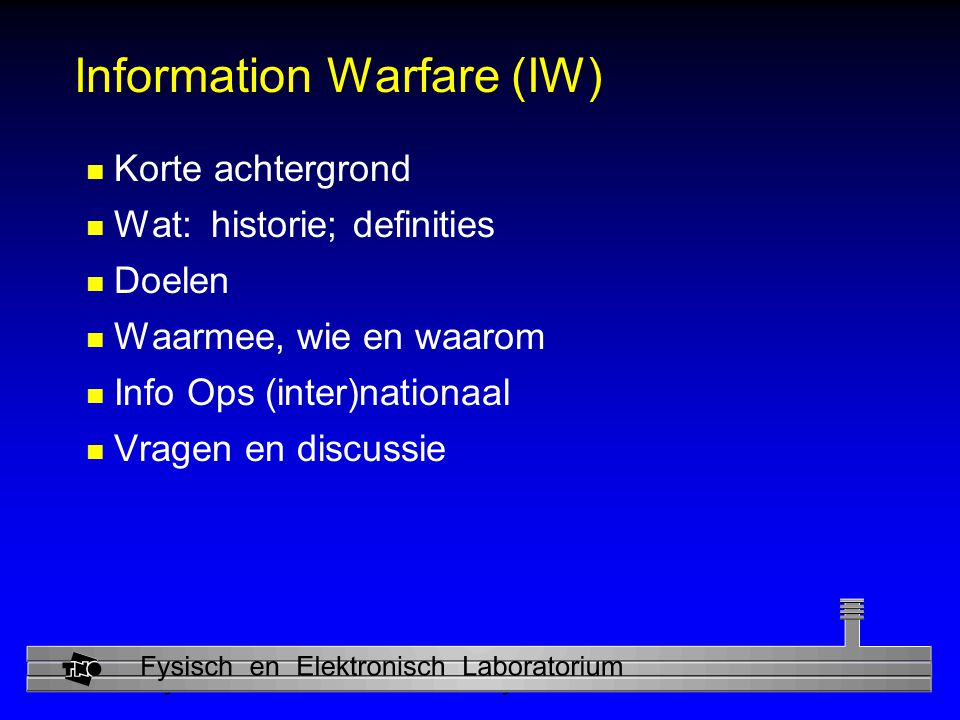 Information Warfare (IW)