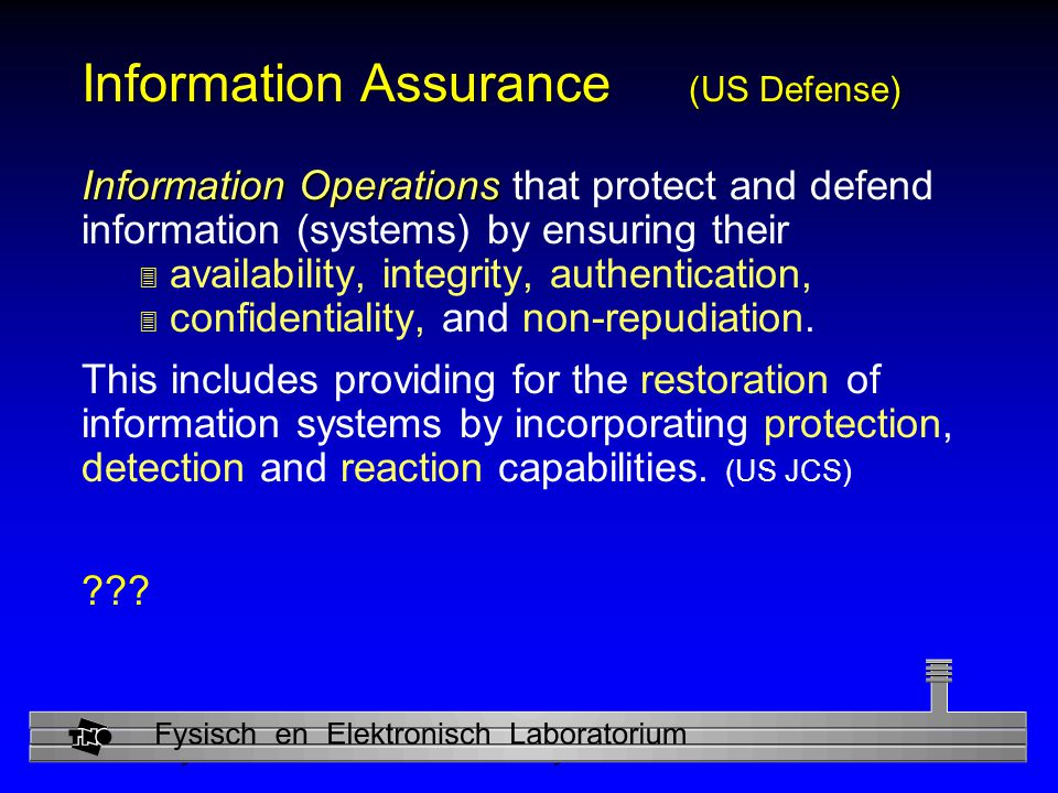 Information Assurance (US Defense)