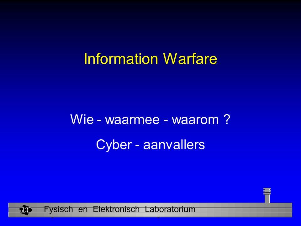 Wie - waarmee - waarom Cyber - aanvallers