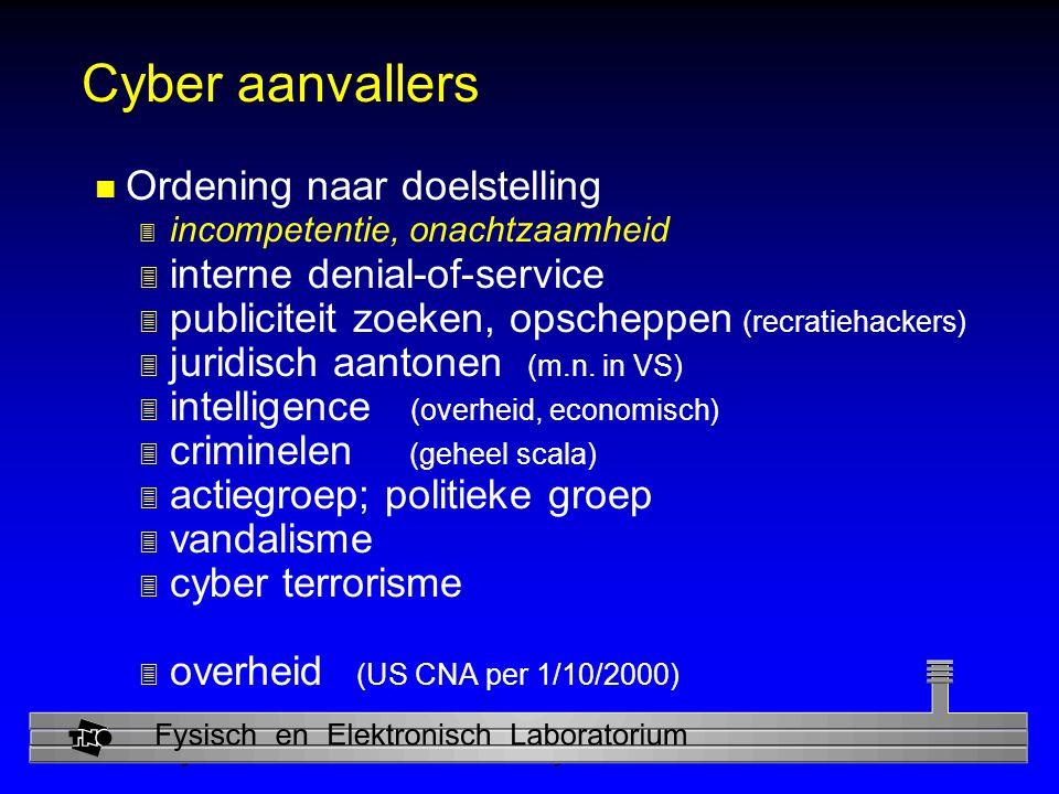 Cyber aanvallers Ordening naar doelstelling interne denial-of-service
