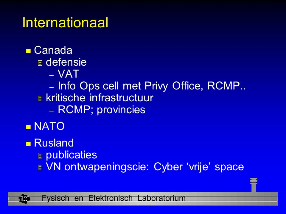 Internationaal Canada defensie VAT