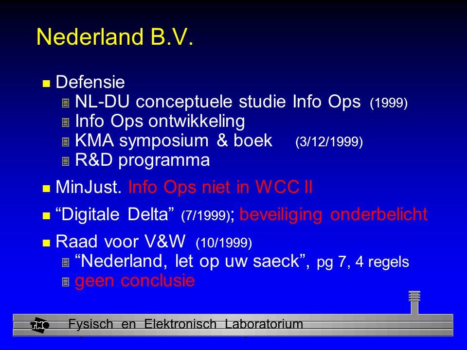 Nederland B.V. Defensie NL-DU conceptuele studie Info Ops (1999)