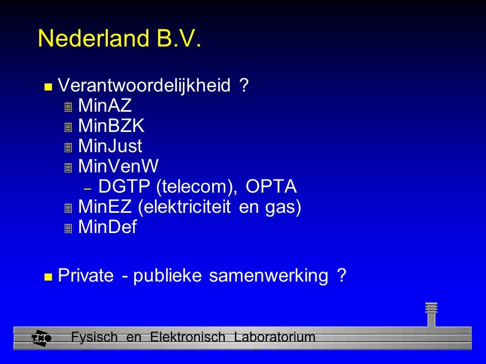 Nederland B.V. Verantwoordelijkheid MinAZ MinBZK MinJust MinVenW