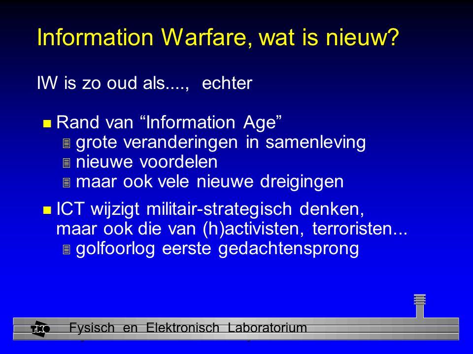 Information Warfare, wat is nieuw