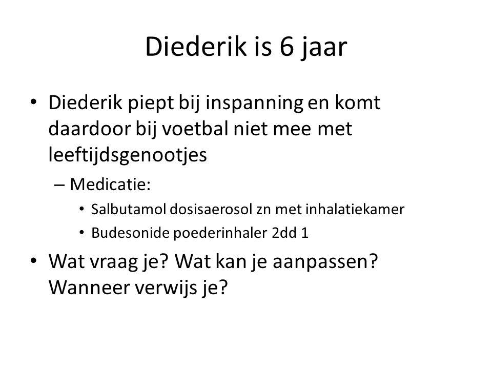 Diederik is 6 jaar Diederik piept bij inspanning en komt daardoor bij voetbal niet mee met leeftijdsgenootjes.