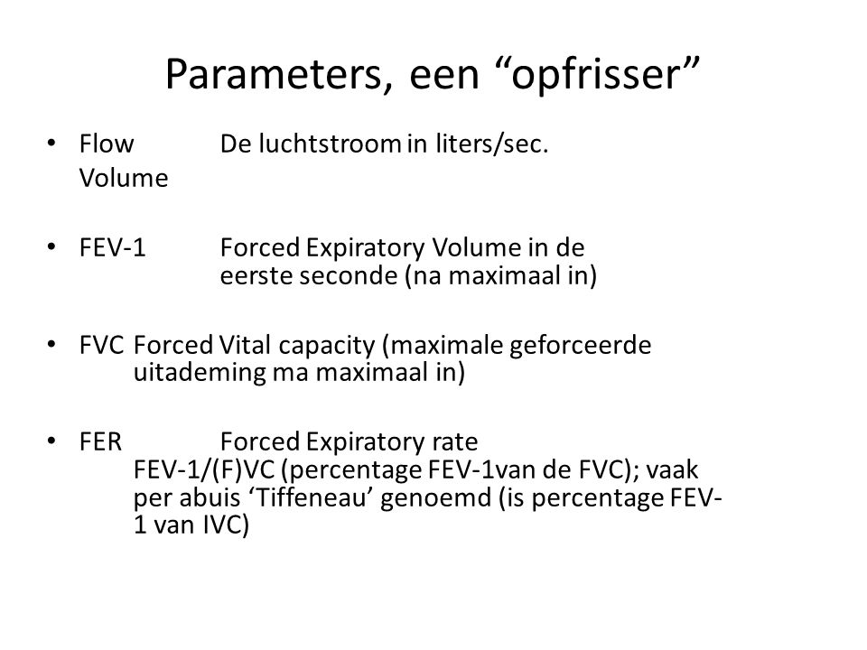 Parameters, een opfrisser