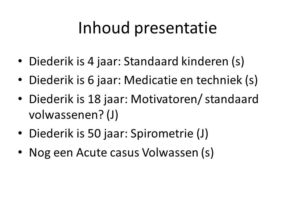 Inhoud presentatie Diederik is 4 jaar: Standaard kinderen (s)