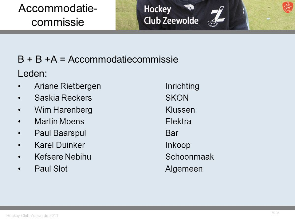 Accommodatie- commissie