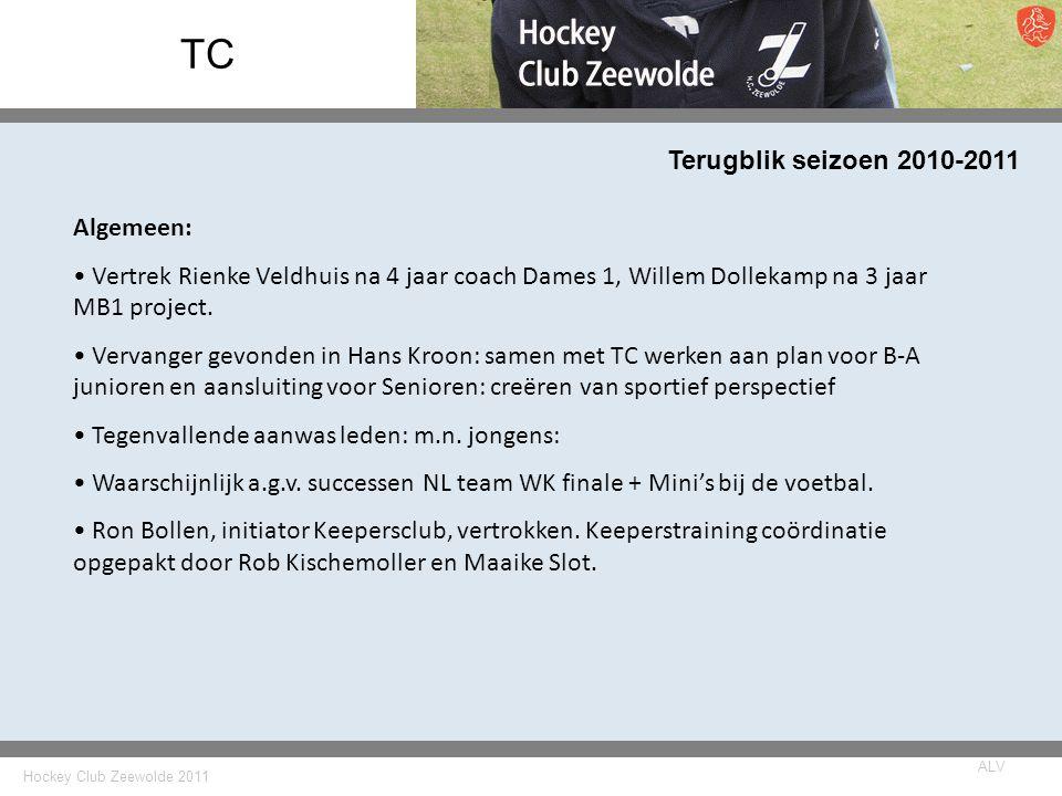 TC Terugblik seizoen 2010-2011 Algemeen: