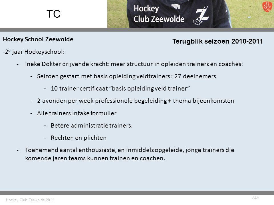 TC Hockey School Zeewolde Terugblik seizoen 2010-2011