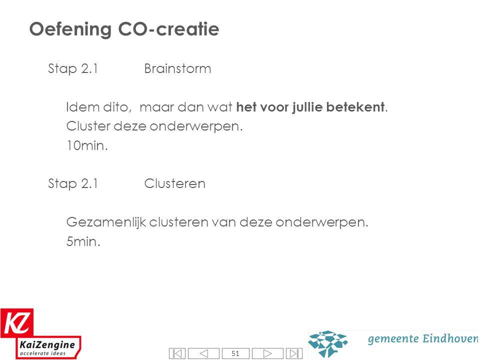 Oefening CO-creatie Stap 3.1 Prioriteren