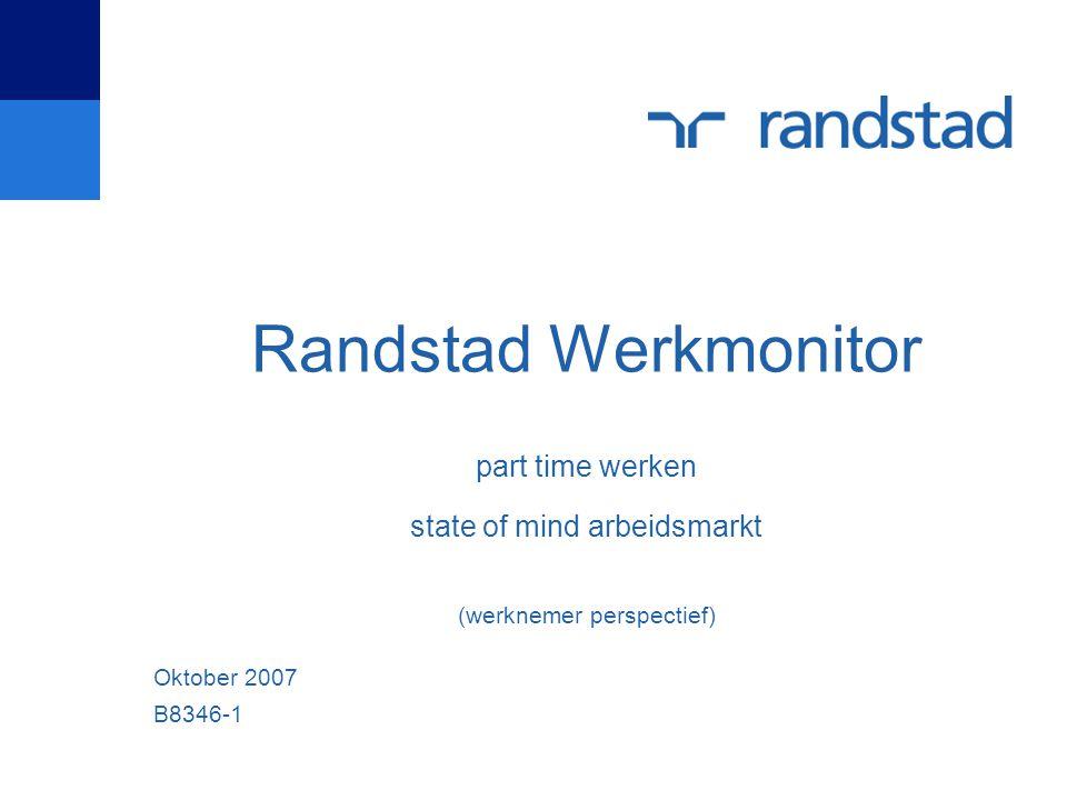 Randstad Werkmonitor part time werken state of mind arbeidsmarkt (werknemer perspectief)