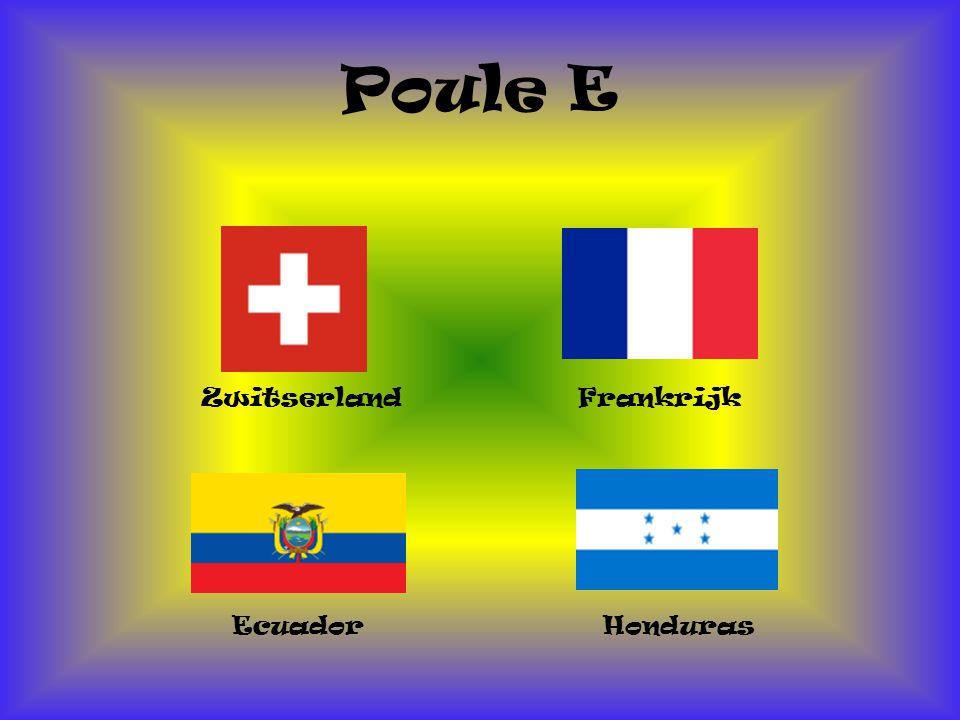 Poule E Zwitserland Frankrijk Ecuador Honduras