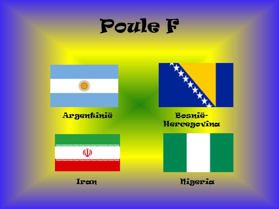 Poule F Argentinië Bosnië- Hercegovina Iran Nigeria