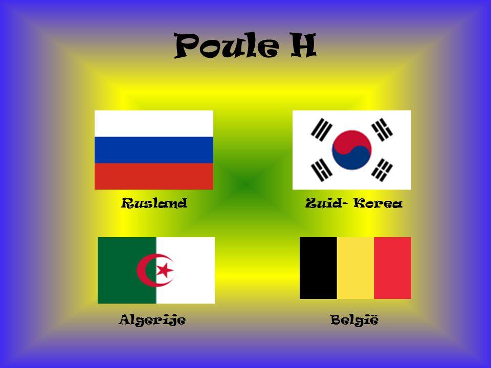 Poule H Rusland Zuid- Korea Algerije België