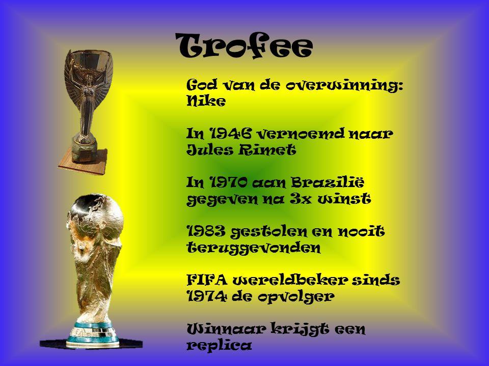 Trofee God van de overwinning: Nike In 1946 vernoemd naar Jules Rimet