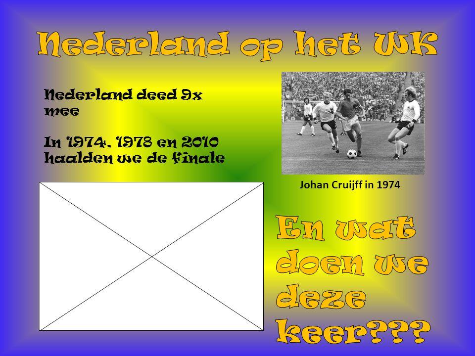 Nederland op het WK En wat doen we deze keer Nederland deed 9x mee