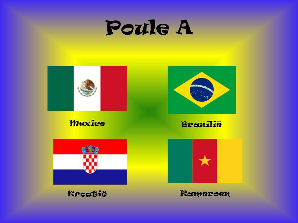 Poule A Mexico Brazilië Kroatië Kameroen