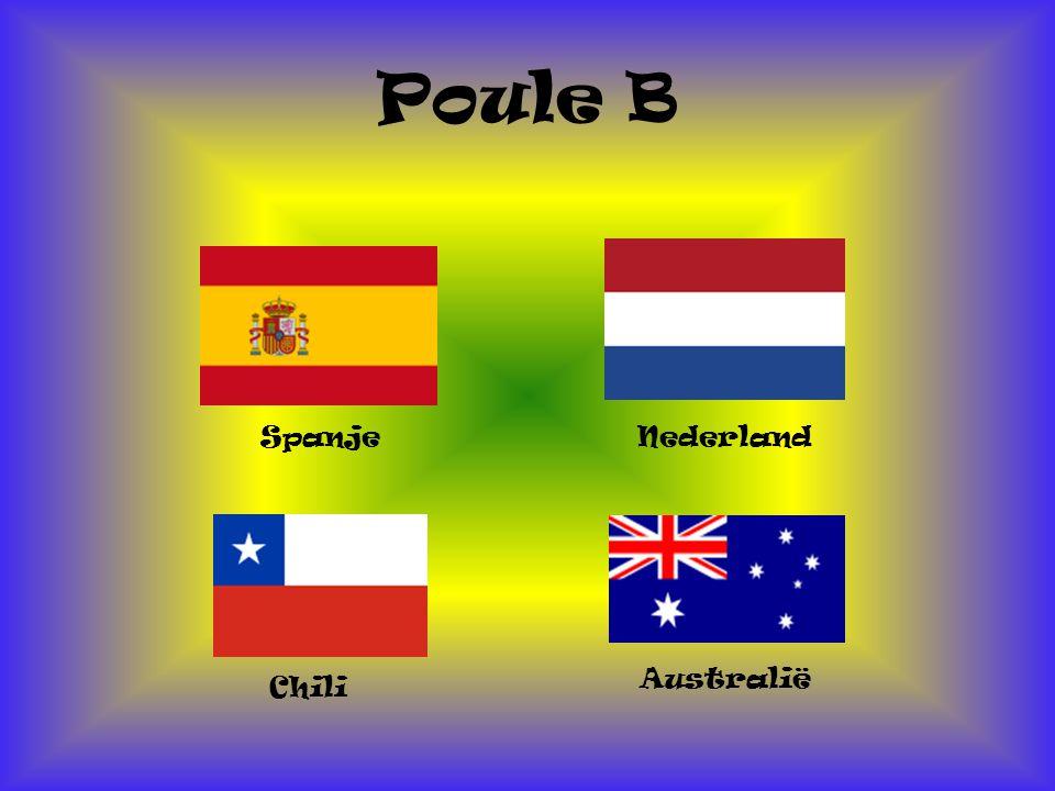 Poule B Spanje Nederland Australië Chili
